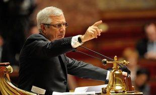 Le président de l'Assemblée nationale Claude Bartolone, le 25 mai 2013 dans l'hémicycle.