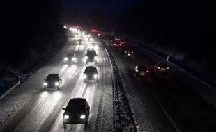 La neige arrive par l'ouest de la France, le 29 janvier 2019.
