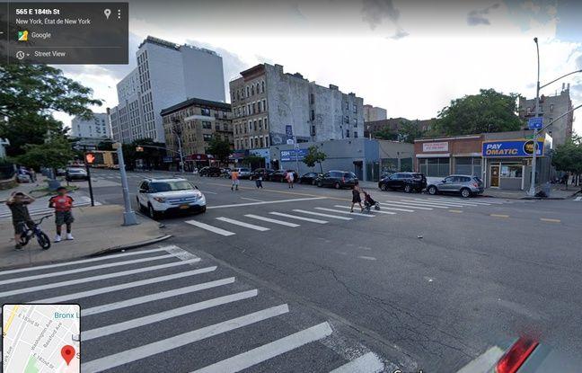 La rue du Bronx visible sur la vidéo virale.