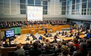 Lors de l'élection du nouveau président du Conseil Départemental de la Haute Garonne a Toulouse, FRANCE - 02/04/2015./LANCELOT_FLAP028/Credit:LANCELOT FREDERIC/ SIPA/SIPA/1504022231