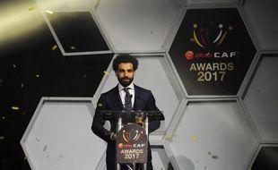 Mohamed Salah a été désigné Ballon d'Or africain de l'année 2017, le 4 janvier 2018 à Accra, au Ghana.
