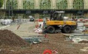 Les abords du parking seront en chantier jusqu'à fin 2012.