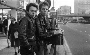 Joe Strummer et Paul Simonon de The Clash en 1978