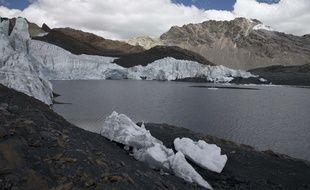 Le glacier Pastoruri au Pérou, ici en août 2016, est victime du changement climatique.