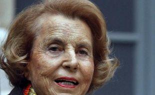 La millionnaire Liliane Bettencourt à Paris le 12 octobre 2011