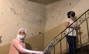 Sadia et Fatima Bouri sont les dernières locataires d'un immeuble en arrêté de péril rue d'Aubagne