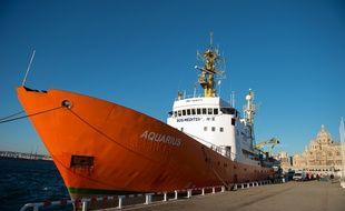 L'Aquarius, à Marseille en février.