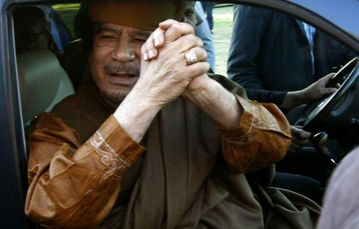 Mouammar Kadhafi, le 10 avril 2011, à Tripoli. – M. TURKIA / AFP