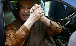 Mouammar Kadhafi, le 10 avril 2011, à Tripoli.