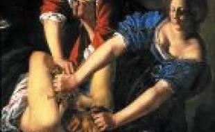 Danaé d'Artemisia Gentileschi (vers 1612) et Eugène Manet et sa fille par Berthe Morisot (1881). Deux toiles de femmes peintres reconnues de leur vivant.Judith et Holopherne, vers 1612-1614.