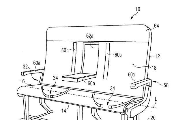 Illustration qui accompagne le brevet d'une «banquette configurable» déposé par Airbus.
