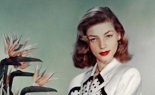 L'actrice Lauren Bacall dans les années 40.