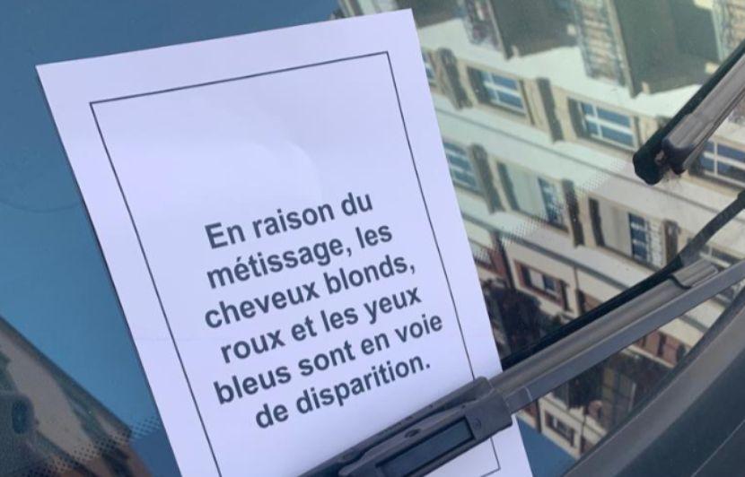 Strasbourg: des messages racistes anonymes déposés sur des voitures