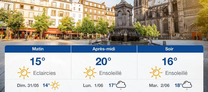 Météo Clermont-Ferrand: Prévisions du samedi 30 mai 2020