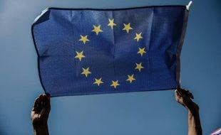 Le drapeau de l'Union européenne, le 19 septembre 2015, à Istanbul