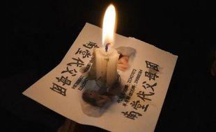 """Photo prise durant les célébrations de Pâques, le 30 mars 2013, à la cathédrale de l'Immaculée conception à Pekin. Beaucoup de catholiques en Chine font partie de """"l'église du silence"""" dont les responsables sont sous surveillance"""
