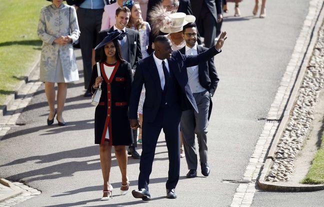 Idris Elba arrivé avec sa fiancée au mariage de Meghan Markle et du prince Harry.