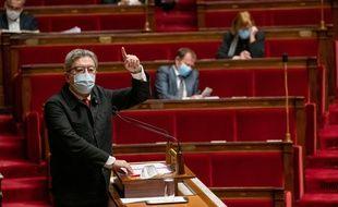 Jean-Luc Mélenchon (LFI) à l'Assemblée nationale.