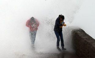 A Biarritz, lors du passage d'une précédente tempête en décembre dernier (image d'illustration).