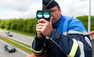 Un contrôle de vitesse sur une voie rapide (illustration).