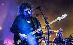 Robert Smith et The Cure en concert au festival BottleRock Napa, en Californie, le 30 mai 2014.