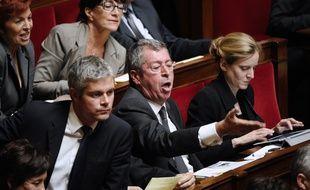 Paris, le 2 octobre 2012. Patrick Balkany à l'Assemblée nationale alors qu'il était député.