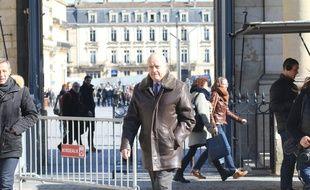 Alain Juppé, à son arrivée à l'hôtel de ville de Bordeaux, le 26 février 2018.