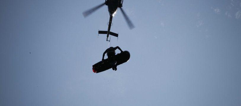 Photo d'illustration d'une intervention du peloton de gendarmerie de haute-montagne (PGHM).