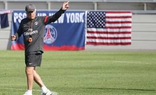 CarloAncelotti lors d'un entraînement du PSH à Princeton (USA), le 21 juillet 2012.