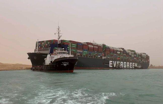648x415 cargo mis travers canal suez 24 mars 2021