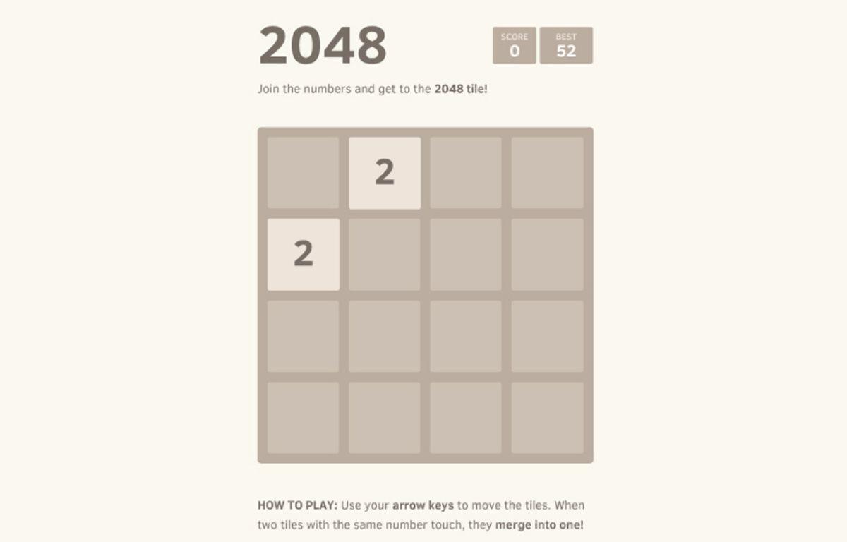 Le jeu 2048. – DR