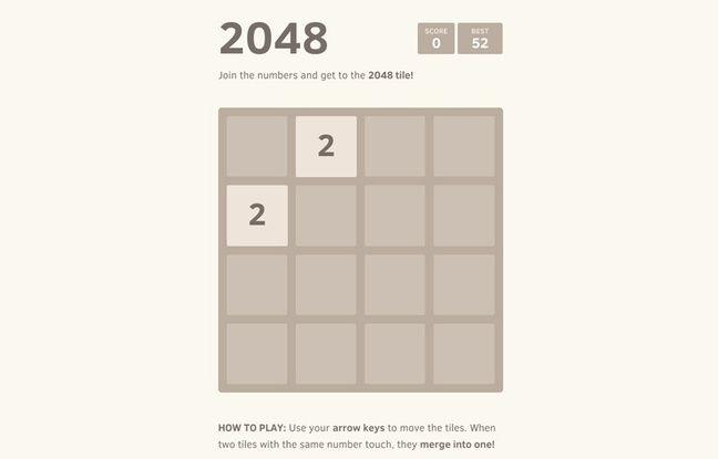 Le jeu 2048.