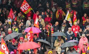 Manifestation des syndicats à Lyon le 1er mai 2015.