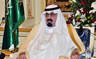 Le roi Abdallah d'Arabie saoudite lors d'une audience au palais royal de Jeddah le 29 septembre 2013