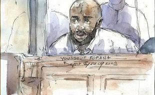 Youssouf Fofana, pendant l'audience du 29 avril 2009, au premier jour du procès du «gang des barbares».