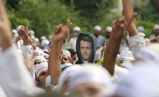 Manifestation contre la France, à Dacca au Bangladesh le 2 novembre 2020.