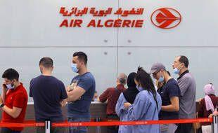 A l'aéroport d'Alger, le 1er juin 2021.