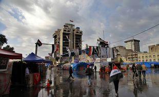 La place Tahrir à Bagdad le 8 janvier 2020.