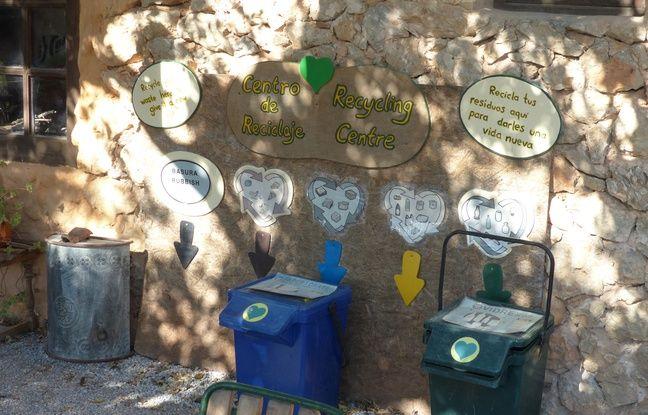 L'espace de recyclage du centre