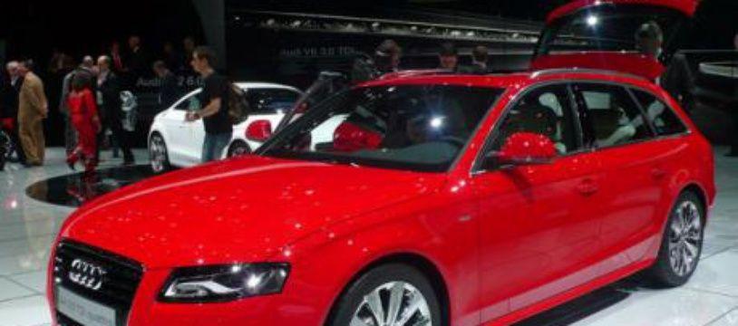 Illustration d'une Audi A4.