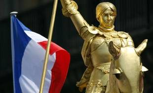 La statue deJeanne d'Arc, dans le 1er arrondissement de Paris.