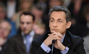Nicolas Sarkozy, le 12 avril 2011, à Versailles.