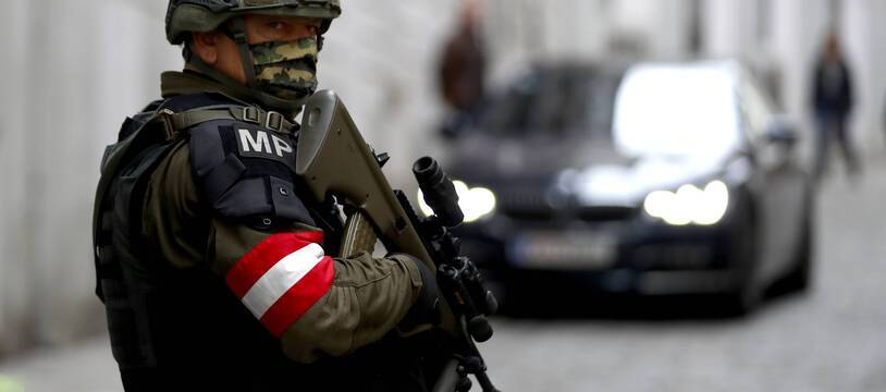 Un militaire autrichien en patrouille, illustration
