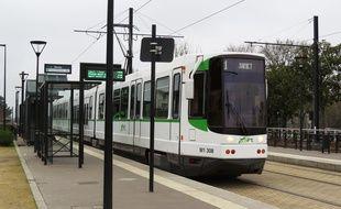 La station de tramway Ranzay, sur la ligne 1, à Nantes.