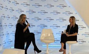 Jennifer Salke, responsable d'Amazon Studios et Georgia Brown, directrice européenne des séries originales d'Amazon Studios à Paris le 7 novembre 2019.