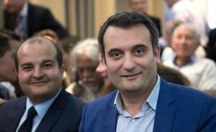 Florian Philippot -à droite), lors de la Convention thematique Marine 2017.