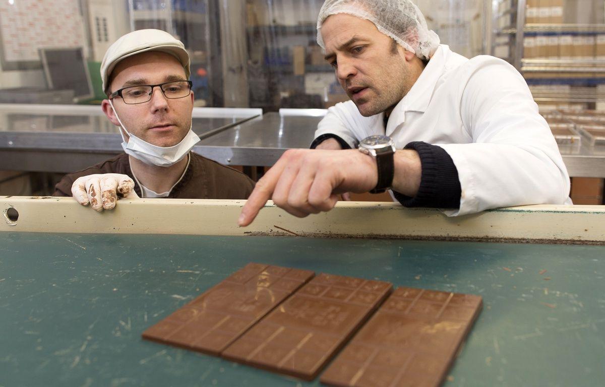 Le président de Grain de Sail Francois Liron (à droite), ici avec le chocolatier Sébastien Renat. – Franck Betermin