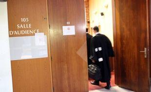 Illustration d'une salle d'audience au tribunal correctionnel de Rennes.