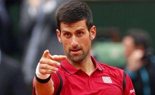 Novak Djokovic lors de son 8e de finale face à Bautista Agut, le 1er juin 2016.