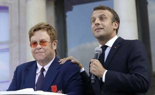 Emmanuel Macron et Sir Elton John
